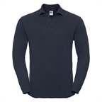 Mens Long Sleeve Classic Cotton Polo marki Russell